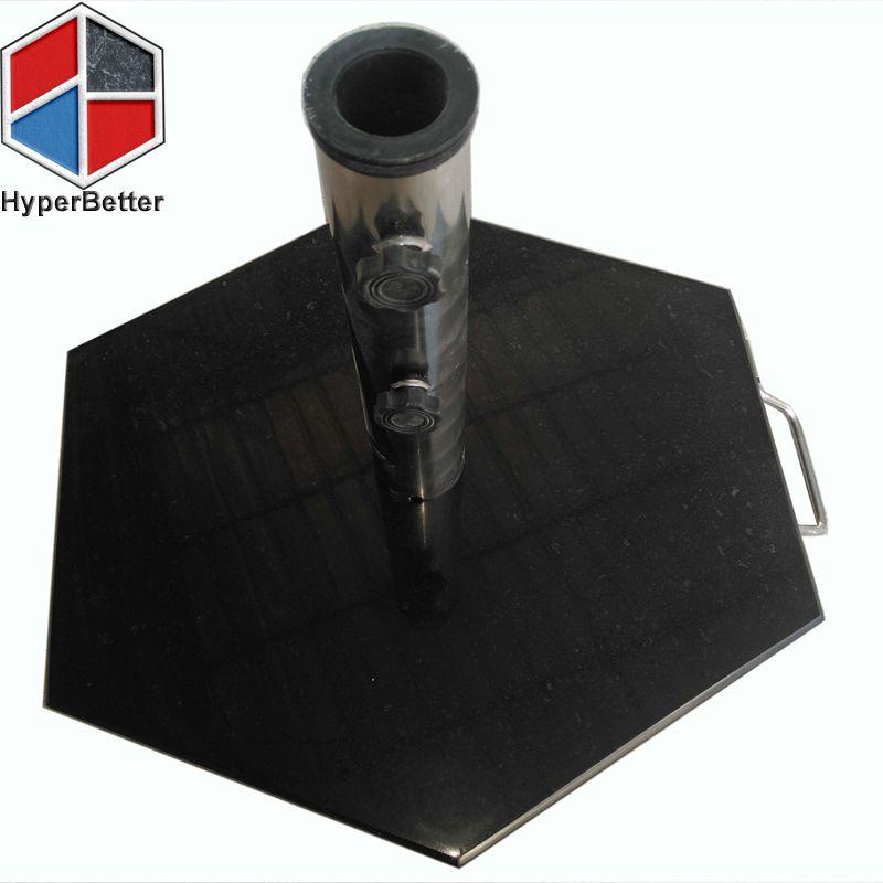 Hexagon black marble umbrella base