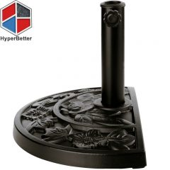 Resin half round umbrella base