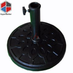 Resin black round umbrella base