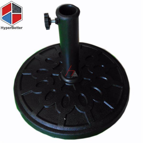 Resin black round umbrella base