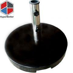 Black marble beach umbrella screw base