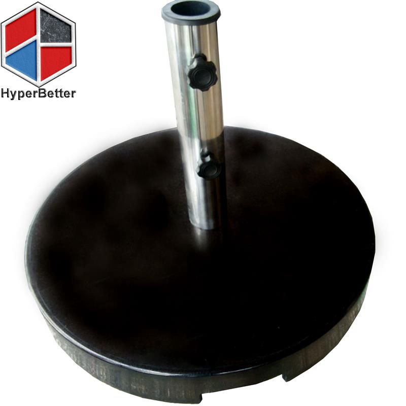 Black marble beach umbrella screw base