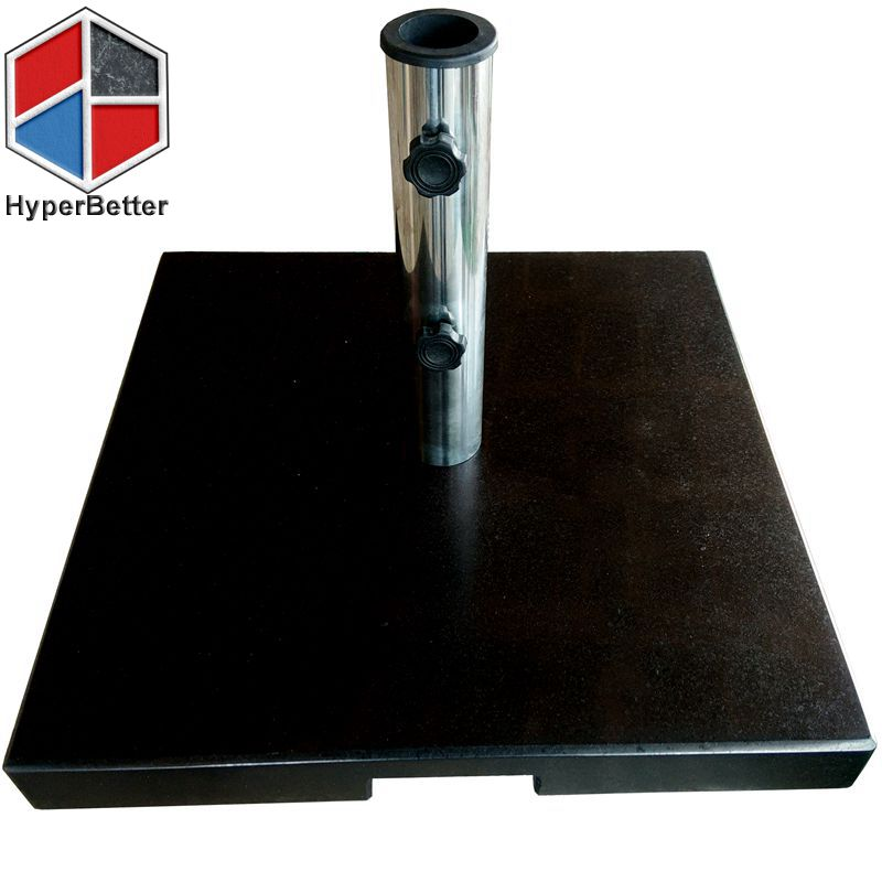 Square Black marble umbrella base