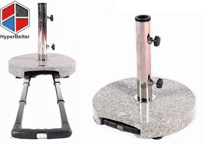 Trolley style for granite umbrella base