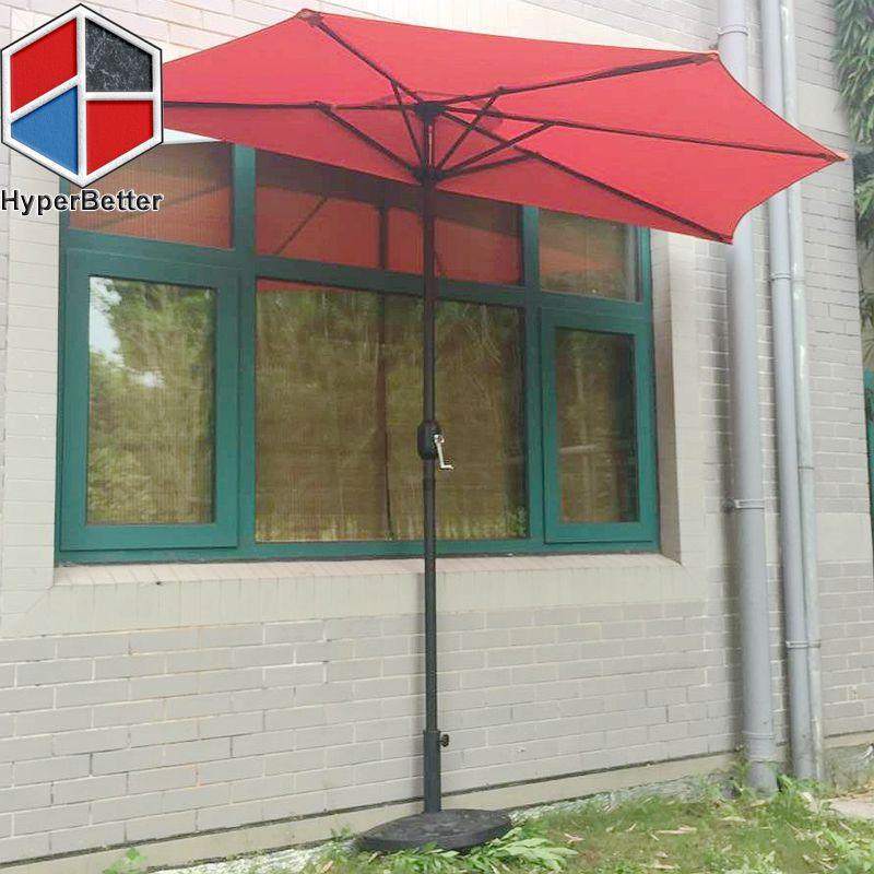 Resin half round umbrella base