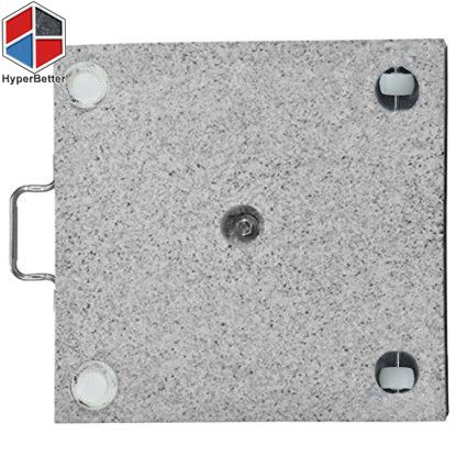 Base weight: 28kgs Material for rope: Stainless steel Style: Side handle and bottom roller Material for base: Natural stone Product description:28kgs square granite stone parasol base