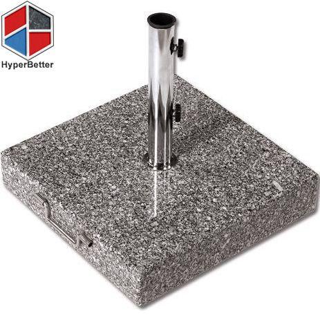 Grey 50lb rolling granite umbrella base