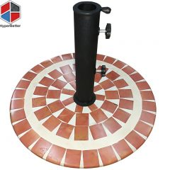 Marble mosaic table umbrella stand base