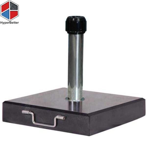 40kgs Nero Black granite square parasol stand