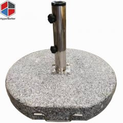 50KGS round granite umbrella base 304 ss tube 4 holes