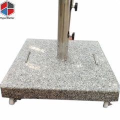 40kgs square granite parasol stand 1.5inch wheels