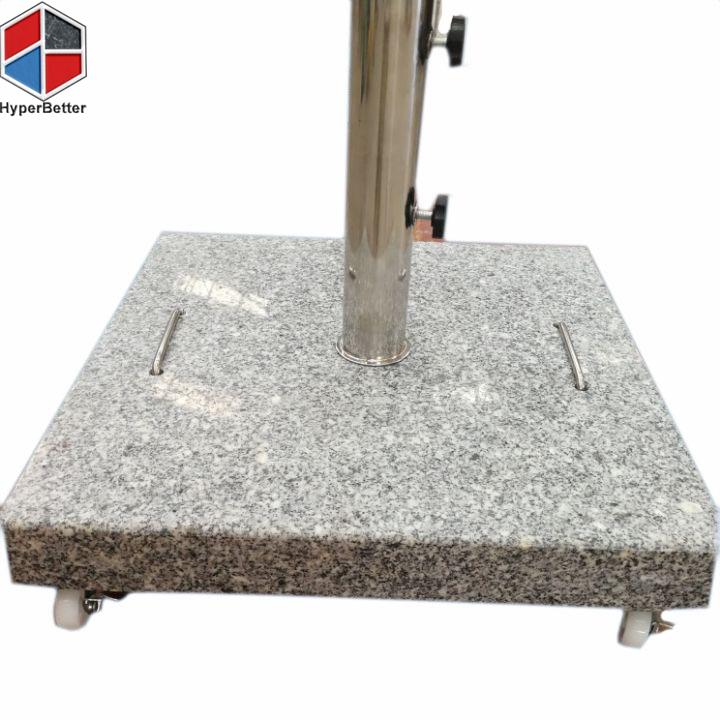40kgs square granite parasol stand 1.5inch wheels